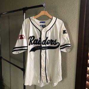 VTG 90s Starter Raiders RARE Baseball Jersey